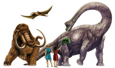 dinosaurs and humans coexisting ?