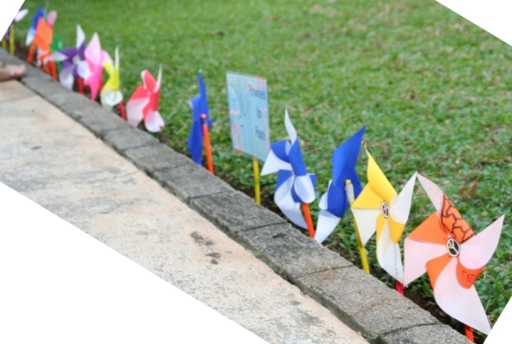 Pinwheels for Peace from last year