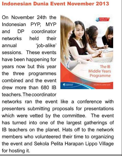 IBAP Regional Newsletter Dunia Teachers Conference